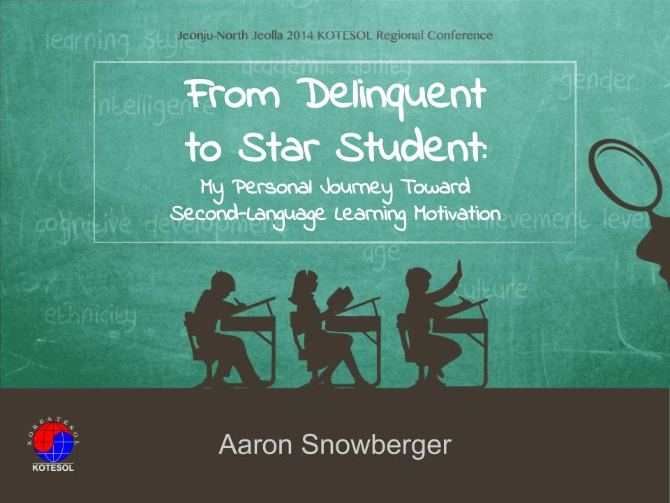 From Delinquent to Star Student - Aaron kr